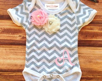 Personalized Onesie with Matching Headband