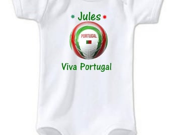 Personalized with name Viva Portugal baby Bodysuit