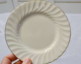 Vintage Minton Clifton Bread Plate Cream Gold Scalloped Edge Replacement England PanchosPorch