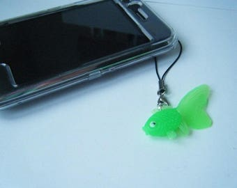 Mobile Green fish charm