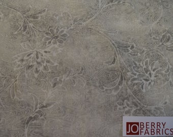 Gray Floral Tonal from Botanical Collection by Red Rooster Fabrics.  Quilt or Craft Fabric, Fabric by the Yard.