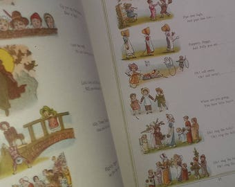 Under the Window Pictures and Rhymes for Children after Kate Greenaway 1800s rare book