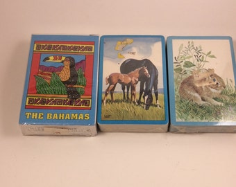 Vintage playing cards, Stardust playing cards, unopened vintage playing cards, the Bahamas playing cards, US playing card co., vintage cards