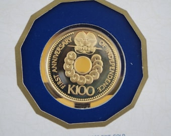 100 Kina Gold Coin - Papua New Guinea - 9.57g