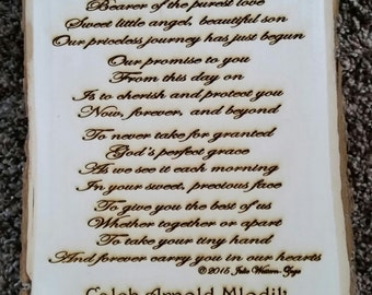 Our Son - Personalized Laser Engraved Original Verse - Great Gift!
