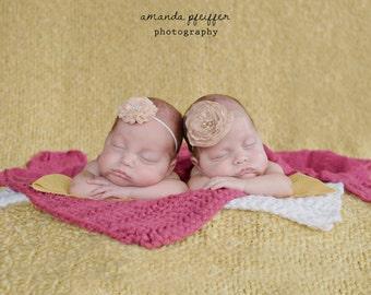 Newborn Baby Blanket Baby Gift Newborn Baby Girl Blanket Newborn Baby Boy Blanket Basket Filler Newborn Photography Props Raspberry Pink