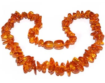 Genuine Baltic Amber Baby Teething Necklace Cognac