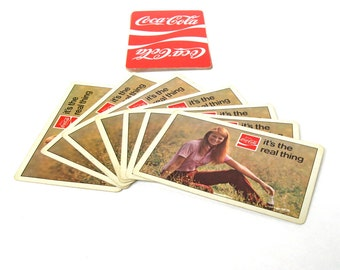 Vintage Card Lot, Vintage Playing Cards,Coca Cola Cards, Vintage Hippy Cards, Hippie Cards, Coke Swap Cards, Vintage Cards, Coke Cards (14)