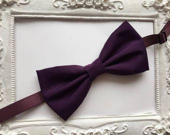 Purple bowtie - man