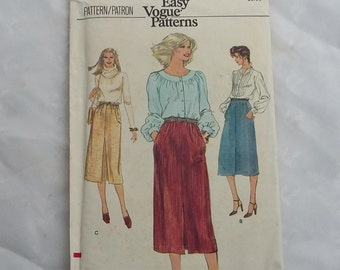 Very Easy Vogue Misses Skirts Sewing Pattern