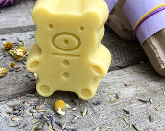 Lotion bar, zero waste lotion, chamomile lavender lotion, moisturizing lotion, baby kid lotion, essential oil lotion bar, kid skin care,