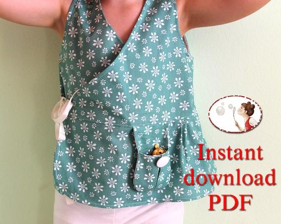 Kimono top. Baby sewing pattern. Girl sewing pattern. Sewing