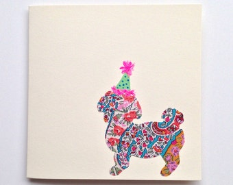 Liberty London Shih-Tzu with Party Hat Greeting Card