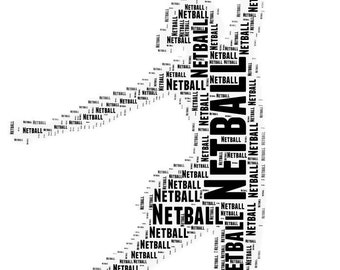 Personalised Netball Print