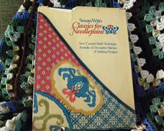 Susan Witt's Classic For Needlepoint - Decorative Stitches, 28 Designs, Bargello, , Basketweave, Borders,