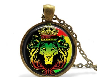 Lion of Judah / Necklace / Rastafari Livity / Reggae / Rastafarian Jewellery