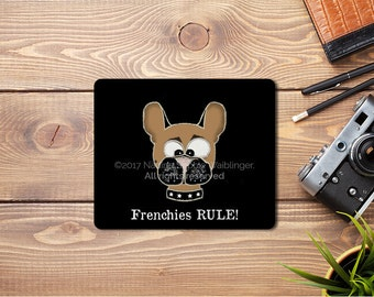 Mouse Pad Bulldog, French Bulldog Accessories, Bulldog Gifts, French Bulldog Case, Frenchie Accessories, Desk Accessories, Frenchie Lover