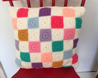 Crochet Squares Cushion
