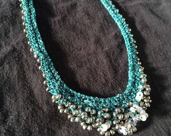 Scalloped Knit Necklace
