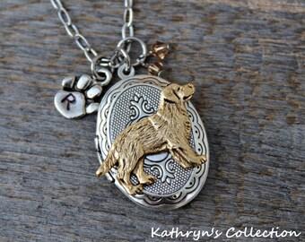 Golden Retriever Locket Necklace, Golden Retriever Gift, Golden Retriever Jewelry, Dog Locket, Yellow Lab Locket