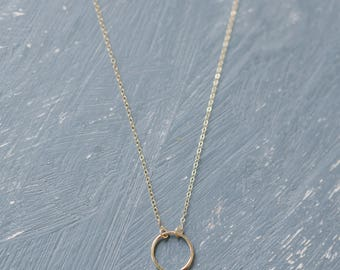 Dainty Eternity Circle Necklace