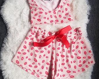 Women Pajama Set - Cotton jersey Pajama shorts - Pijama Pants - Sizes S-M-L