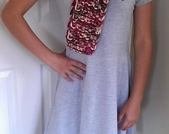 Chunky knit scarf, long scarf, winter scarf, handknit scarf, winter accessories, burgundy scarf, women's scarf, gift for women, gift for her