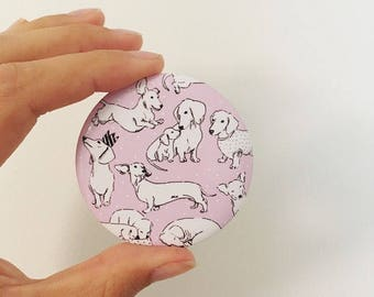 The Dachshund Pocket Mirror