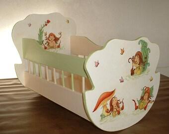 Large wooden - handmade cradle