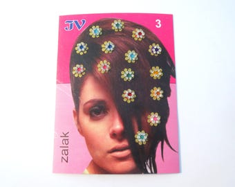 hair makeup tattoos,Hair stickers,Shinning bindi dots,Hair flower clip,Bellydance accessory,Christmas wedding hairpiece