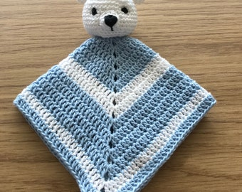 Handmade Ted Baby Soother/Comforter - Ideal New Baby/Shower Gift