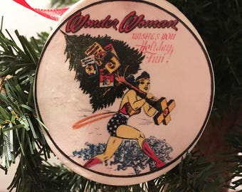 Vintage Wonder Woman Ornament