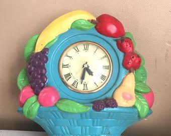 Colorful Fruit Clock for Repair