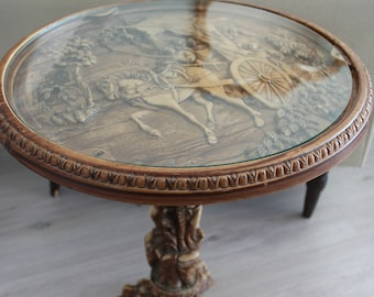 Vintage Carved Accent Table
