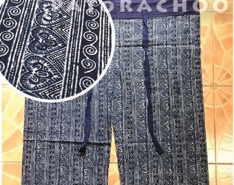 Indigo-dyed fabric Thai Fisherman Pants (TH4957)
