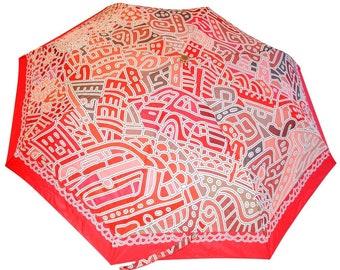 Romantic Umbrella (unique design, automatic, three-folding, 27 cm length)