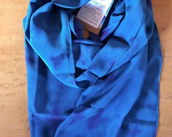 Hand dyed crepe silk scarf