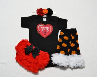 chicago bulls baby girl outfit - baby girls chicago bulls baby girl outfit - girls chicago bulls outfit - chicago bulls basketball baby gift