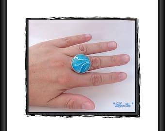 Ring polymer blue seas.