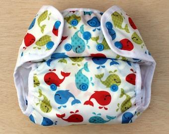 Nelpe Diaper Cover, Splish Splash, Size Two