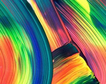 Life In Technicolour - Original Abstract Artwork - Acrylic on Paper
