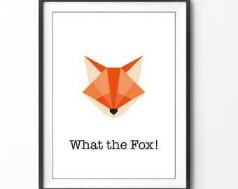 What the Fox! print Fox illustration origami polly geometric