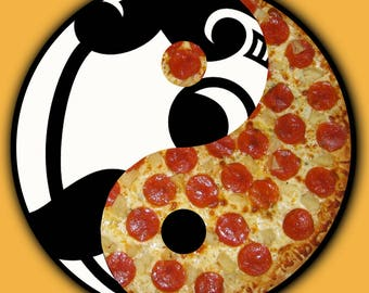 "4x4 ""Boh and Pizza"" Yin Yang Natty Boh Matte Finish Print"