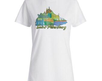 Trip to Saint Petersburg Russia Travel World Ladies T-shirt vv9f
