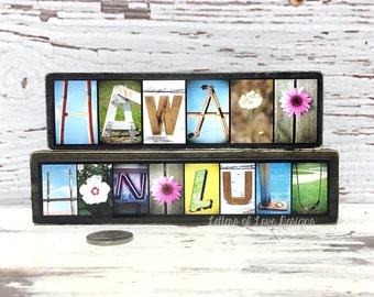 Hawaii Wood Sign, Honolulu Hawaii Map, Hawaiian Decor, Hawaiian Art, Hawaiian Gifts, Travel Gifts for Travelers Hawaii Photography Wall Art