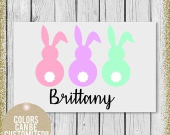 Easter Gift for girl, Toddler water bottle, Decals for kids cups, Kids water bottle, Easter gift, Easter bunny gift, Easter Basket gift