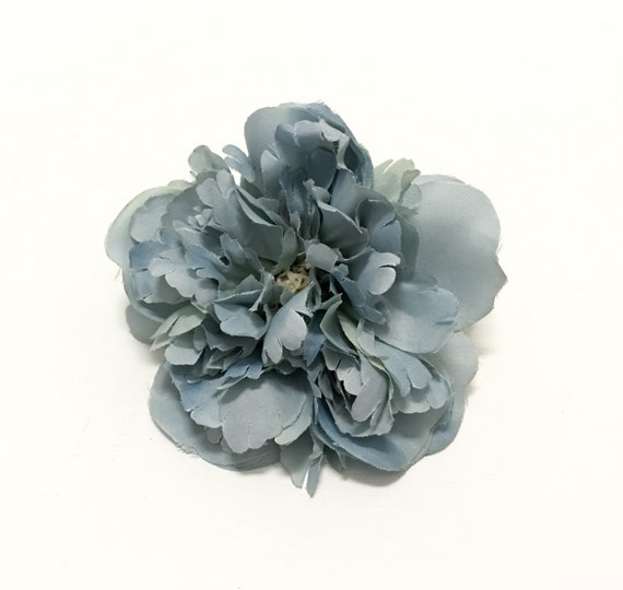 Dusty blue peony 5 inches artificial flower silk flower wedding dusty blue peony 5 inches artificial flower silk flower wedding flower crown from blissfulsilks on etsy studio mightylinksfo
