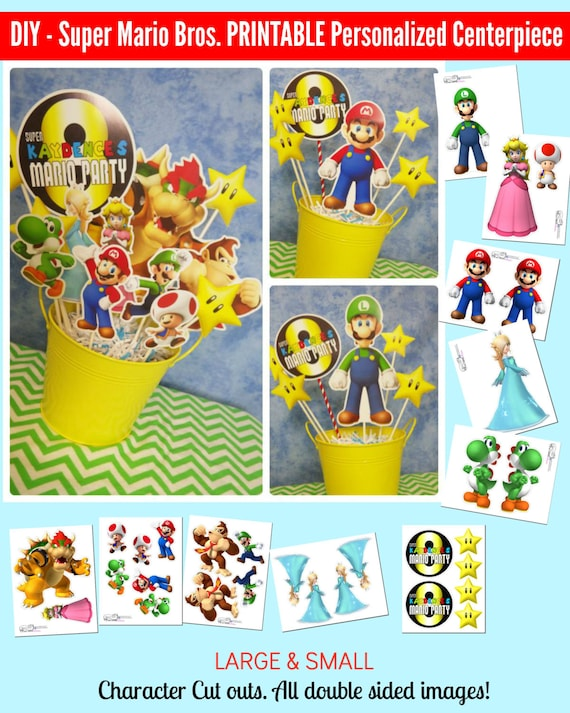 Super Mario Bros Printable Centerpiece Mario Birthday Mario