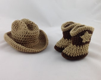 Baby Cowboy Hat and Boots - Baby Cowgirl Hat - Infant Cowboy Hat - Baby Cowboy - Infant Cowboy - Western Hat - Baby Western Wear