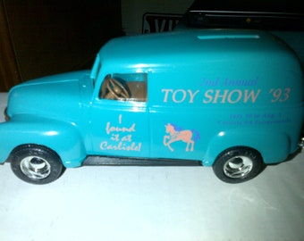 1950 Panel Truck Locking Bank From Toy Show